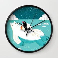 Hitching A Ride  Wall Clock