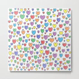 Colored Hearts  Metal Print