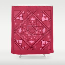 Earth, Water, Air and Fire Shower Curtain