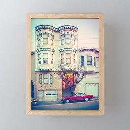 Red Car in San Francisco Fine Art Print Framed Mini Art Print