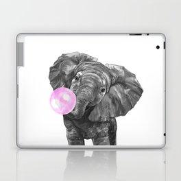 Bubble Gum Elephant Black and White Laptop & iPad Skin