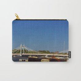 Albert Bridge on the Thames in London Carry-All Pouch