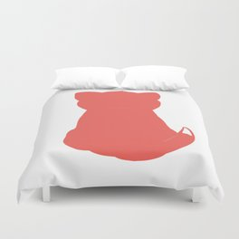 Cat red Duvet Cover