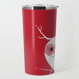 Cherry Blossom Owl Travel Mug