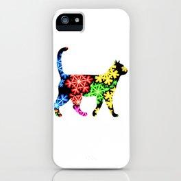 Cat Showflake Rainbow iPhone Case