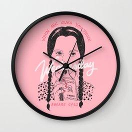 Wednesday Addams Eyes Wall Clock