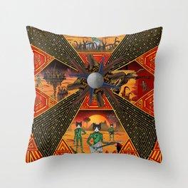 Cosmic Doom Vortex Throw Pillow