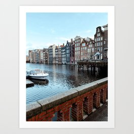 Colorful Dutch Canal Houses | City Amsterdam The Netherlands | Europe Travel Photography Art Print Art Print