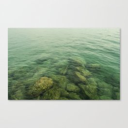 Rock, stones, pebbles photographed under the water surface Canvas Print