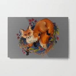 Sly Fox Spirit Animal Metal Print