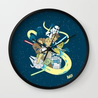starwars Wall Clocks featuring StarWars by ANDY