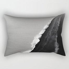 Black Sand Beach, Iceland Rectangular Pillow