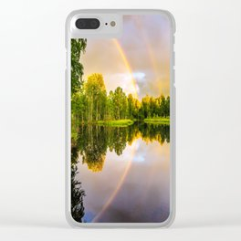 Rainbows: The gift from heaven to us all Clear iPhone Case