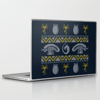xenomorph Laptop & iPad Skins featuring A Christmas Bug Hunt by Stationjack