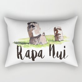 Rapa Nui watercolor Rectangular Pillow