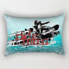 ride hard - snow Rectangular Pillow
