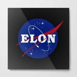 Elon NASA Parody Metal Print