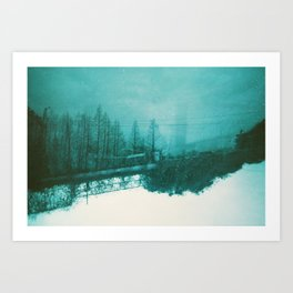 winter haze Art Print
