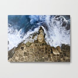 An abstract of the ocean and the coastal rocks. Metal Print