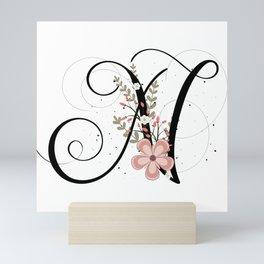 Letter N of the alphabet Mini Art Print