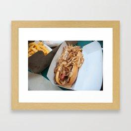 Shake Shack Hot Dog Framed Art Print