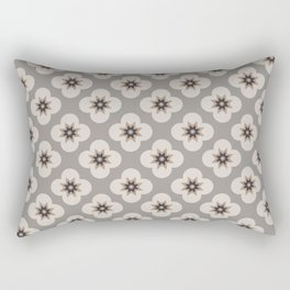 Starburst Floral, Greige background Rectangular Pillow