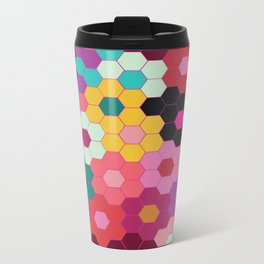 Honeycomb Blooms Metal Travel Mug
