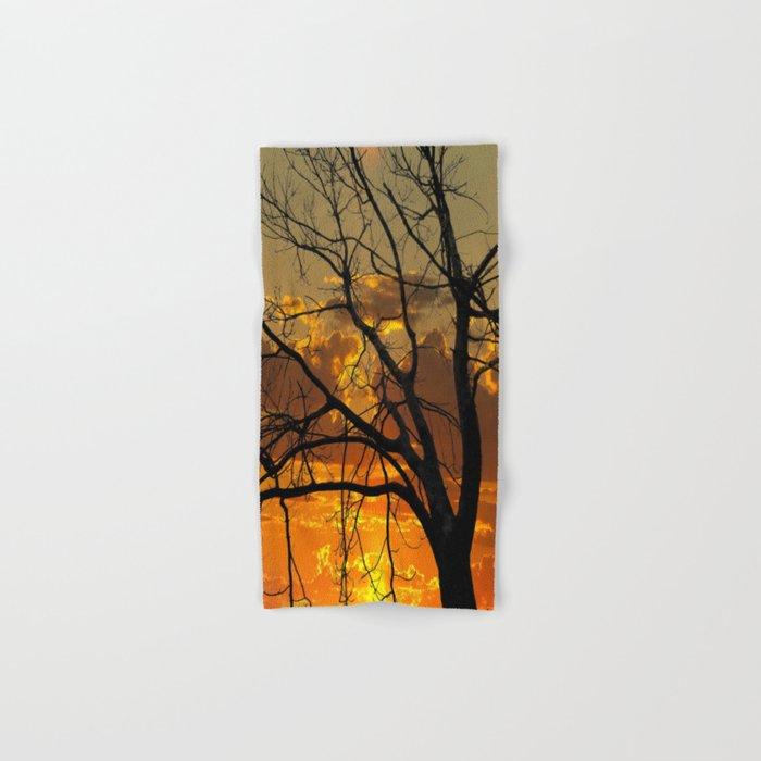 Sunset Tree, California Hand & Bath Towel