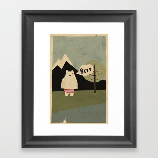 yeti cold Framed Art Print