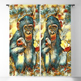 AnimalArt_Chimpanzee_20170603_by_JAMColorsSpecial Blackout Curtain