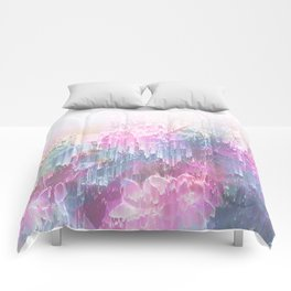 Magical Nature - Glitch Pink & Blue Comforters
