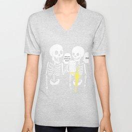 Halloween Skeleton Beer Lover Gift  Unisex V-Neck