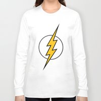 flash Long Sleeve T-shirts featuring Flash by Bastien13