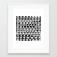 alphabet Framed Art Prints featuring Alphabet by Jeffrey J. Irwin