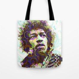 Hendrix Psychedelic Guitar Tote Bag