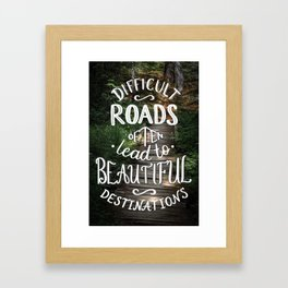 Beautiful Destinations Framed Art Print