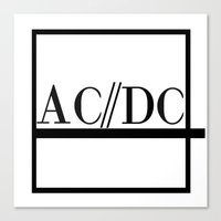 acdc Canvas Prints featuring Classy Rockers by blairartisan