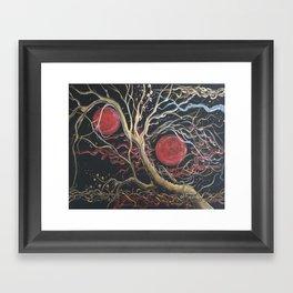 Two Moons Framed Art Print