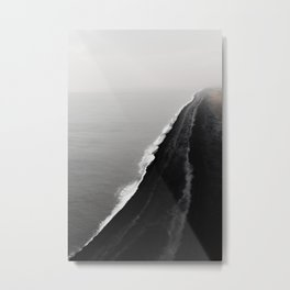 BLACK SAND BEACH Metal Print