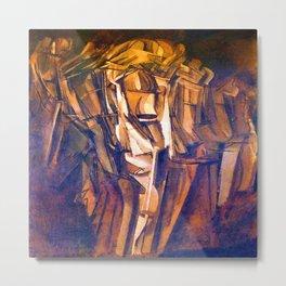 Marcel Duchamp Nude Study Metal Print