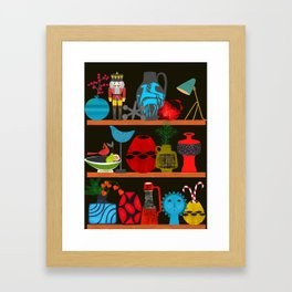 Collectors shelf Framed Art Print