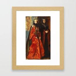 King Lear: Goneril and Regan, Act I, Scene I by Edwin Austin Abbey Framed Art Print