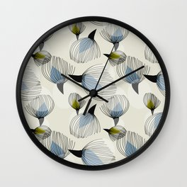 Retro Cotton Pattern Wall Clock