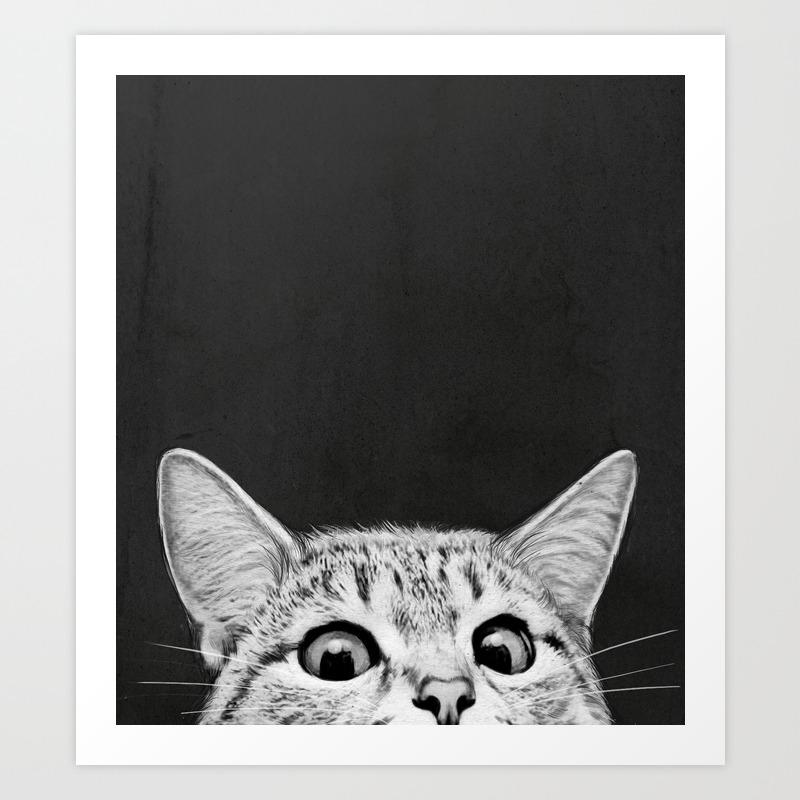 Black And White Odd Art : Animals art prints society