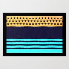 My US Flag & Jeans Art Print