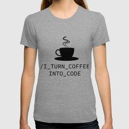 Coffee Programmer Coden nerdy Geek joke gift T-shirt