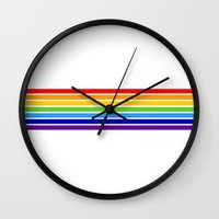 jewish Wall Clocks featuring russia jewish flag by tony tudor