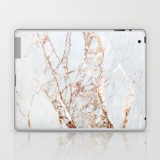 Gold Grey and White Sparkle Marble Laptop & iPad Skin