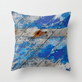Burghead Boat 5 Throw Pillow