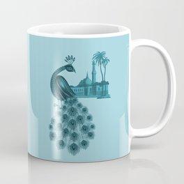 Blue peacock oriental dream Coffee Mug